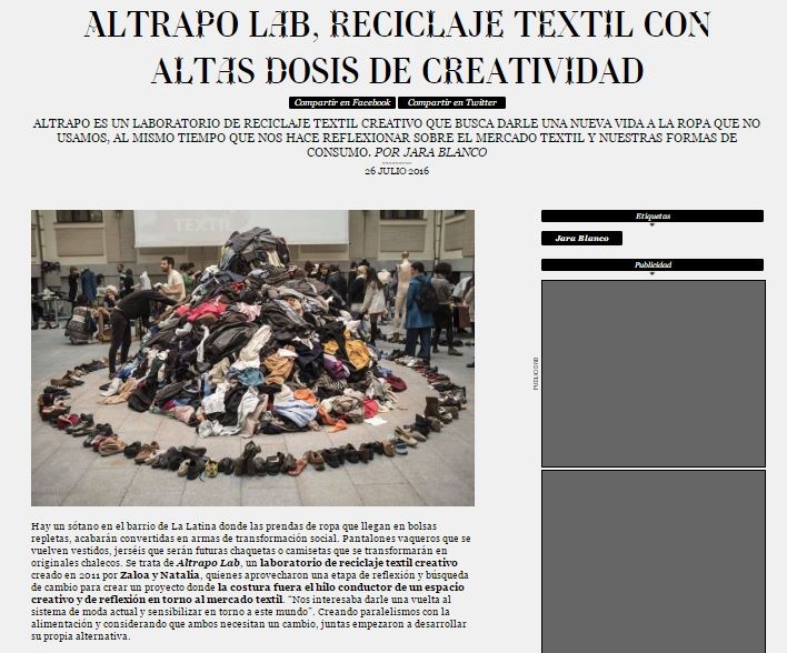 Captura Revista Madriz 2016. Artículo Altrapo