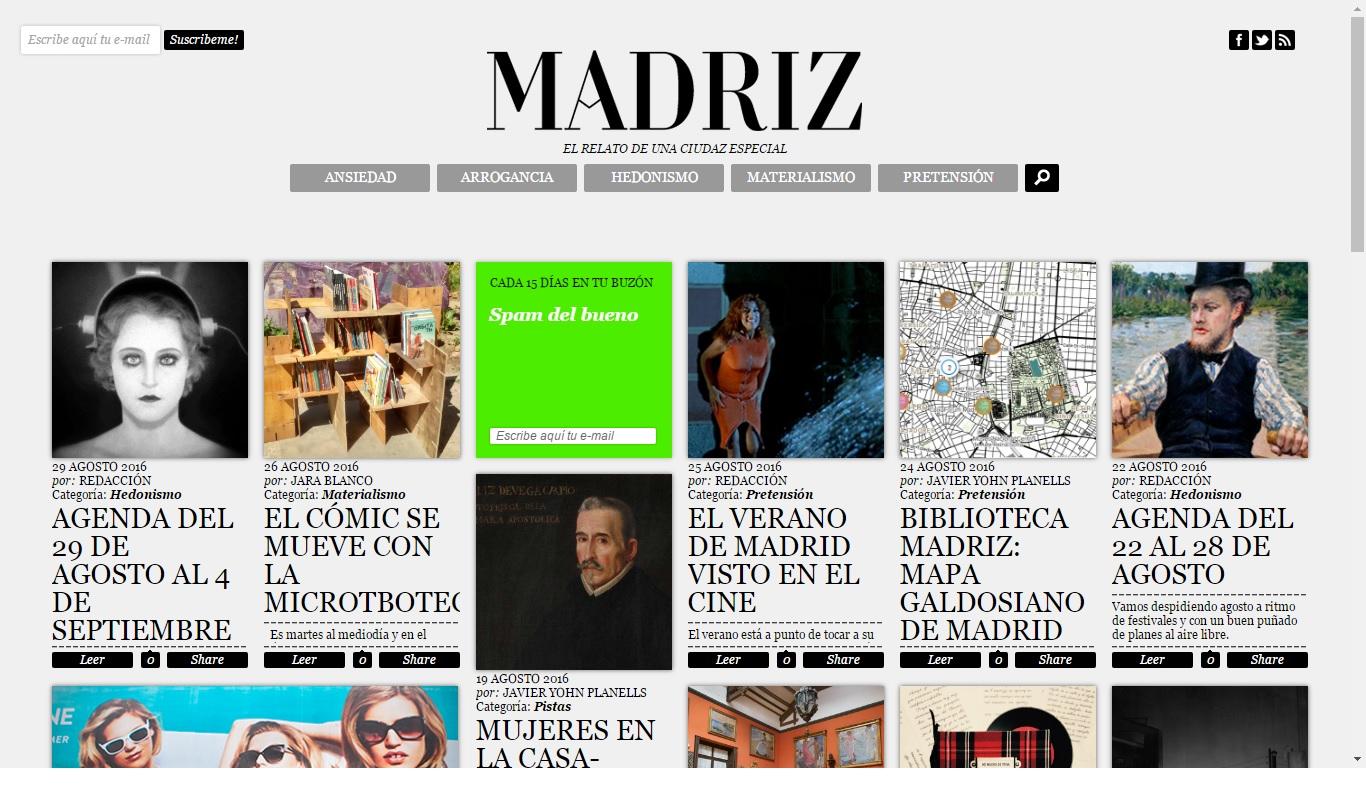 Captura Revista Madriz 2016. Artículo MicroTBOteca